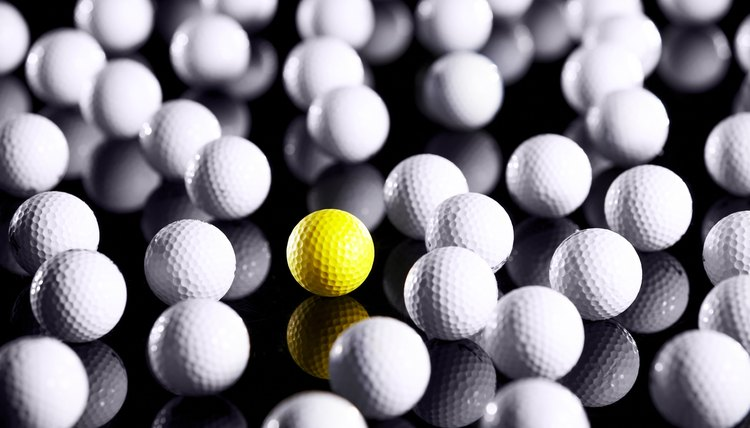 Some may consider a yellow golf ball tacky, but at least you won't confuse it with someone else's ball.