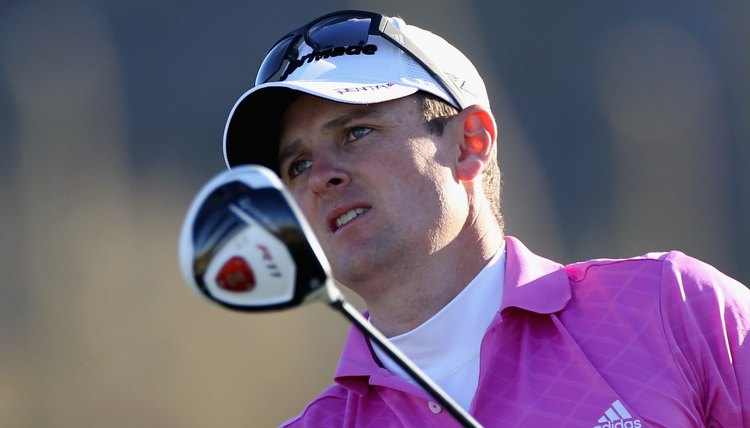 Justin Rose plays TaylorMade's R11 driver, which has movable weight technology.