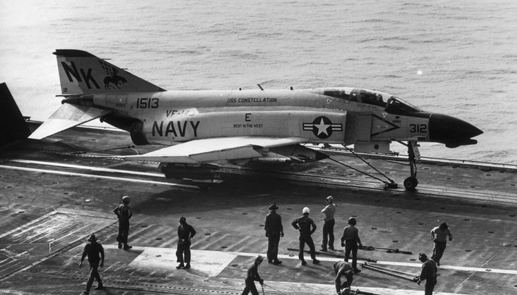 U.S. aircraft like the F-4 seen here carried sophisticated guided weapons during the Vietnam War.