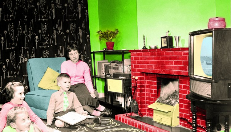 Larger families, TVs and suburban homes all marked the prosperity of the 1950s.
