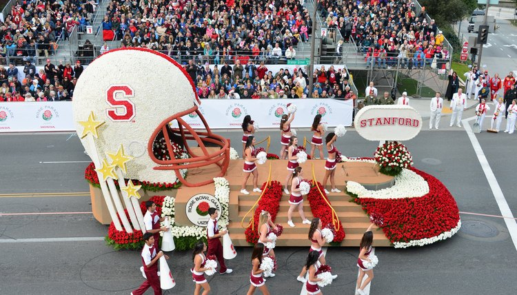 Stanford University fielded a float at the 2013 Tournament of Roses parade.