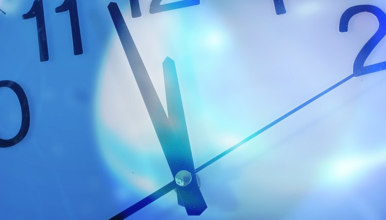 The hands on a clock provide an effective speed contrast.