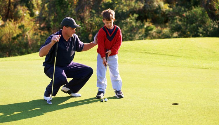 Introduce your child to golf on the practice green.
