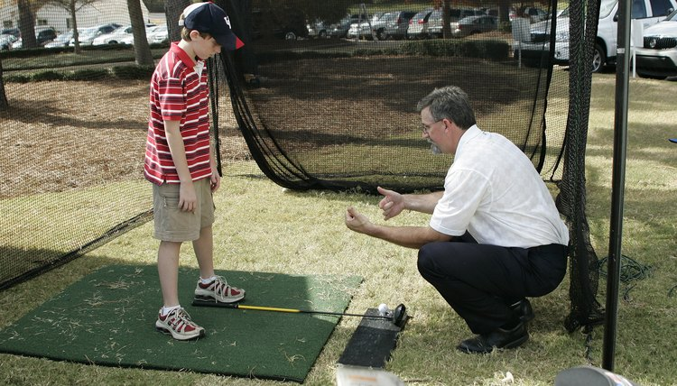 A personal golf net allows you to practice in your backyard.