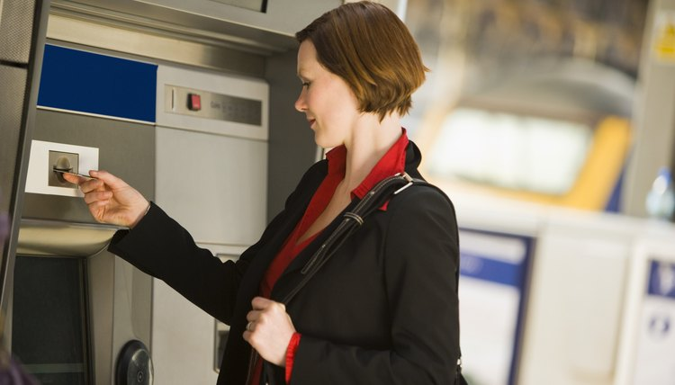 An ATM withdrawal usually results in a pending transaction overnight.