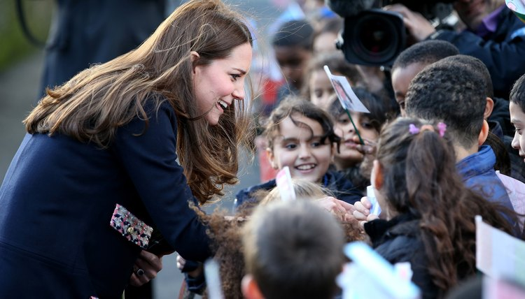 The Duchess of Cambridge attending a charity event for children.