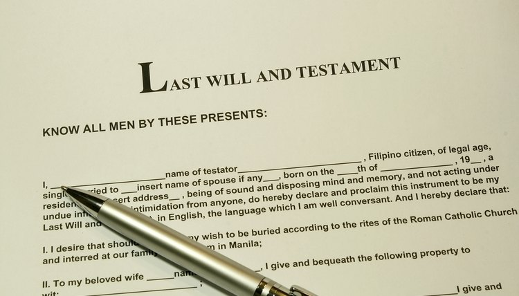 Executor of a will.