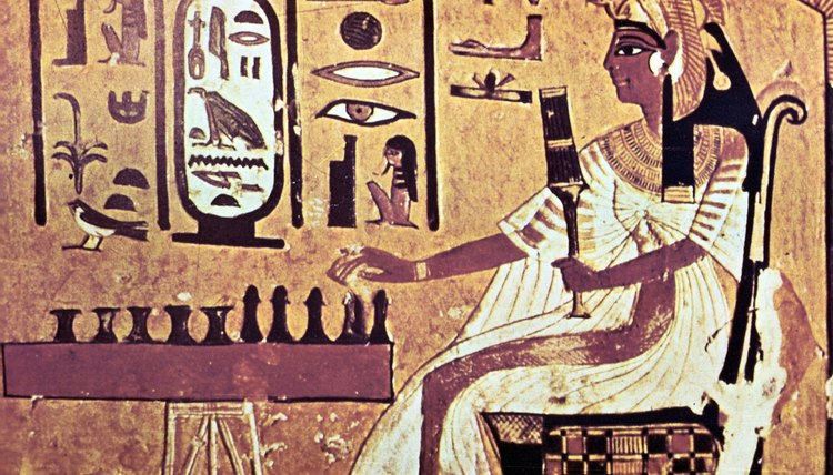 Girls in ancient Egypt were often trained to do their mother's work.