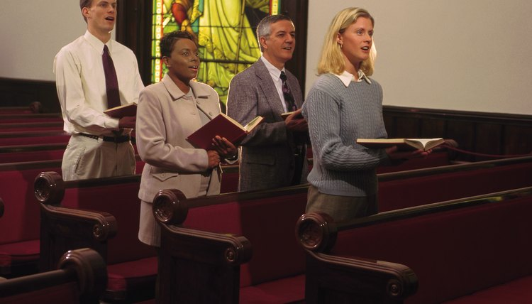 Baptists often sing hymns during a worship service.
