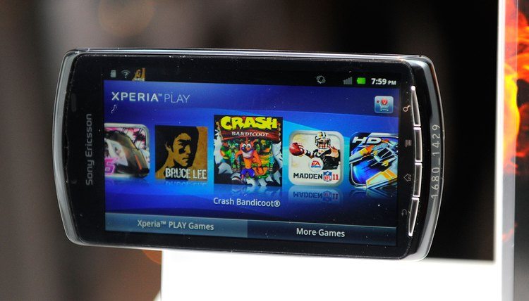 Reset your Xperia Play to factory defaults if the touchscreen freezes.