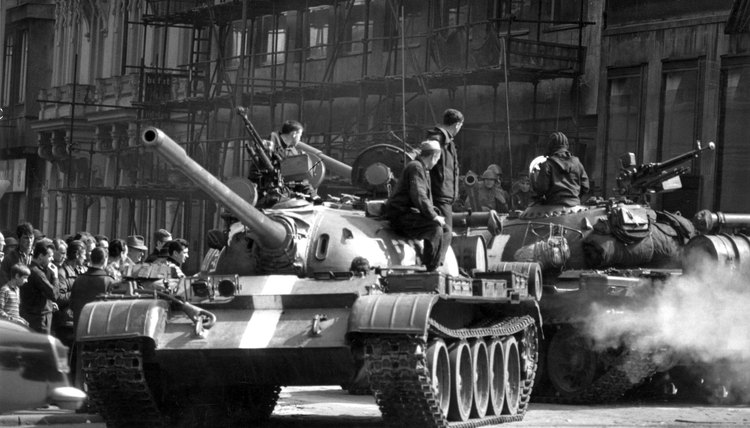 Soviet tanks attacked the Czechoslovak capital of Prague in August 1968.
