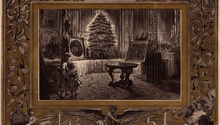 Images of Queen Victoria's Christmas decorations were extremely popular.