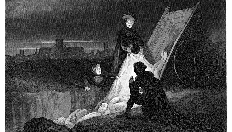The black death saw mass burials in England and elsewhere.