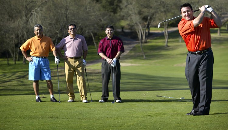 Scramble golf events are often more fun and faster than regular stroke-play events.
