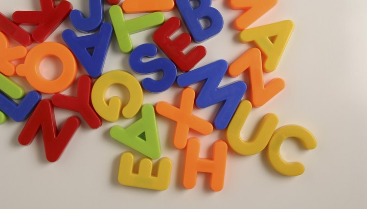 Use alphabet magnets to help teach your tot her ABCs.