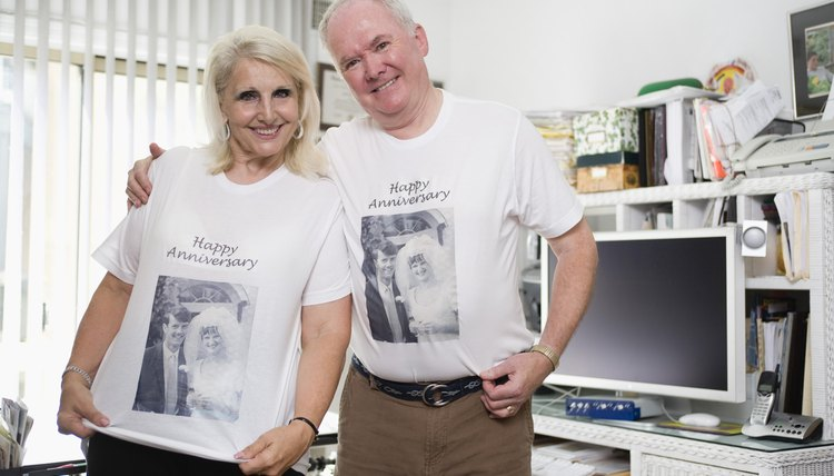 Matching T-shirts for the couple may not be traditional, but the gift can be fun.