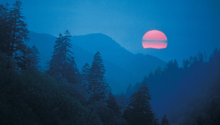 Sunset in North Carolina's Smoky Mountains.