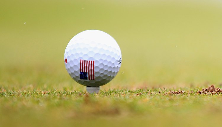 A plain, white golf ball can be difficult to distinguish from similar balls.