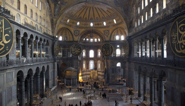 The Hagia Sophia is a marvel of Byzantine architecture.