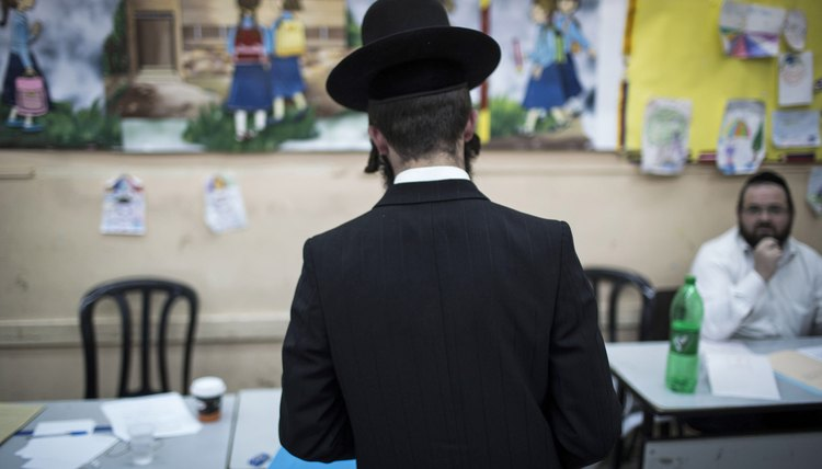 An Orthodox Jewish voter casting a ballot in a recent Israeli election.