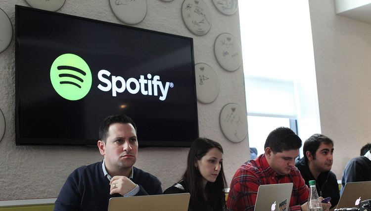Spotify works on computers and on mobile devices.