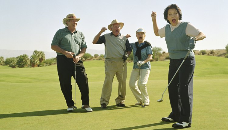 Your whole team benefits when you sink a long putt in an Ambrose competition.