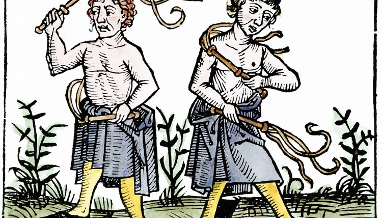Self-whipping was a common behavior during the tumultuous Late Middle Ages.