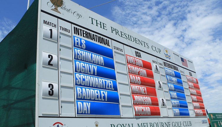 Attending a live golf tournament is quite different from TV, without a leaderboard, it's harder to follow the action.