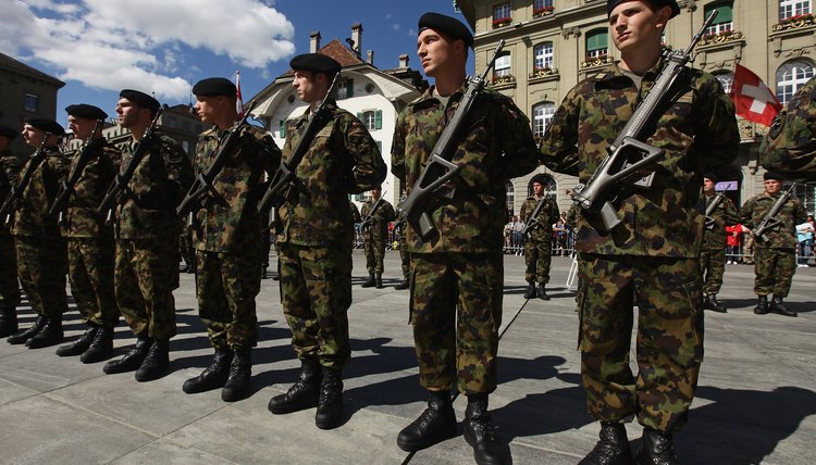 Approximately 20,000 Swiss recruits attend basic training each year.