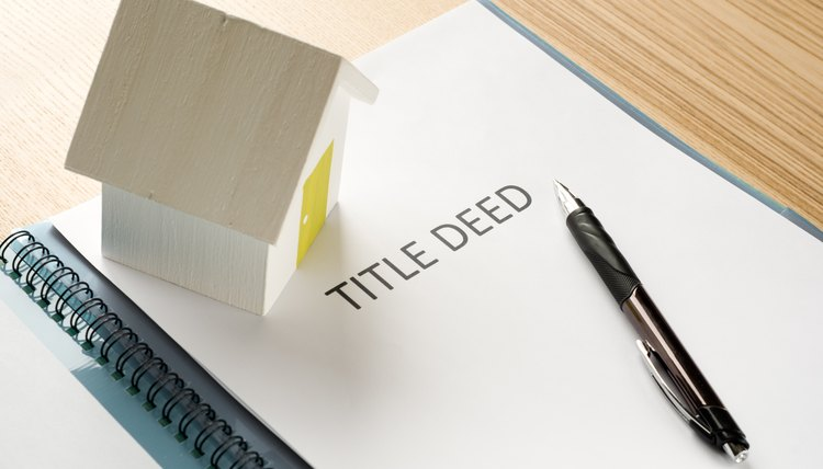 Title deed for a house