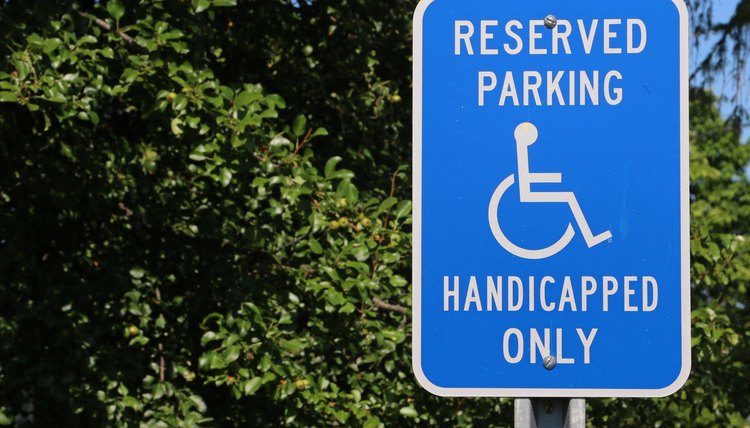 Parking for handicapped only sign