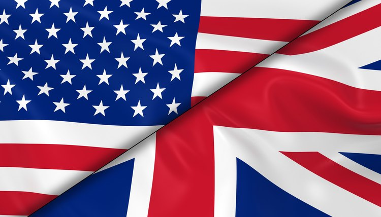 Flags of the USA and the UK