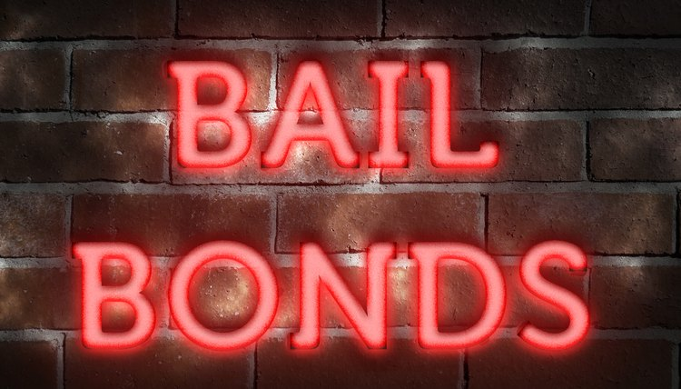Neon 'bail bonds' sign