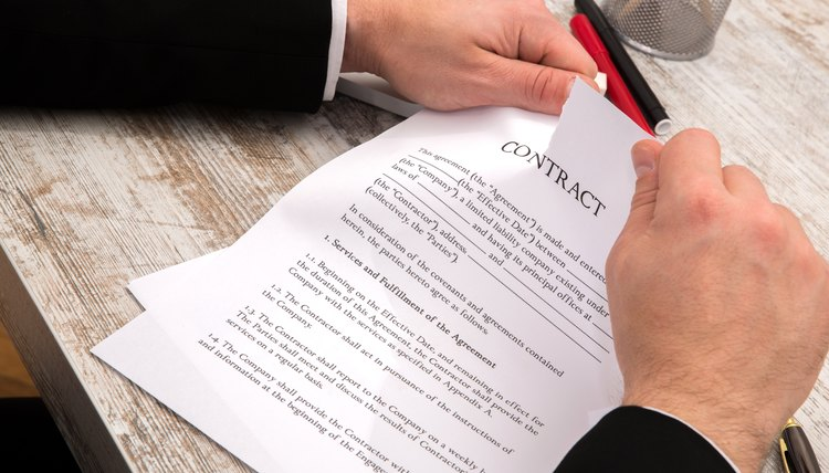 How to Write a Letter to Void a Contract