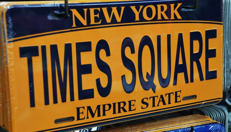 Times Square New York license plate