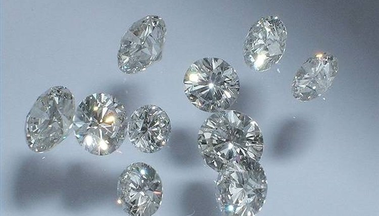 Lab-created colorless diamonds