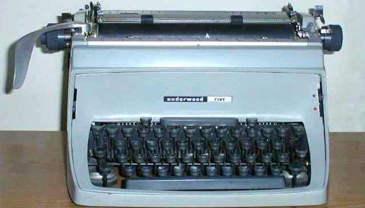 Old government-style Underwood typewriter