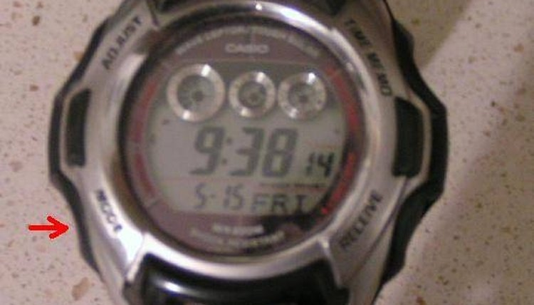 how to change date casio watch