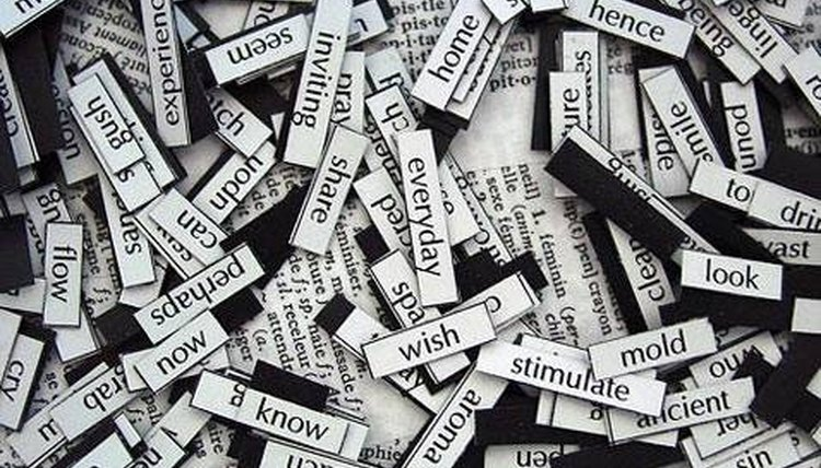 There are over one million words in the English language.