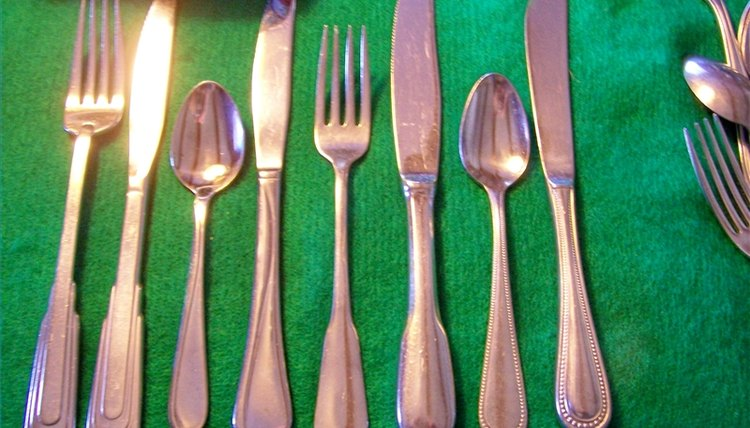 The flatware, more nickel, a deeper, brighter shine