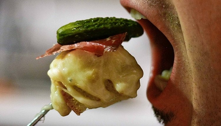 Eating too quickly can lead to hiccups.