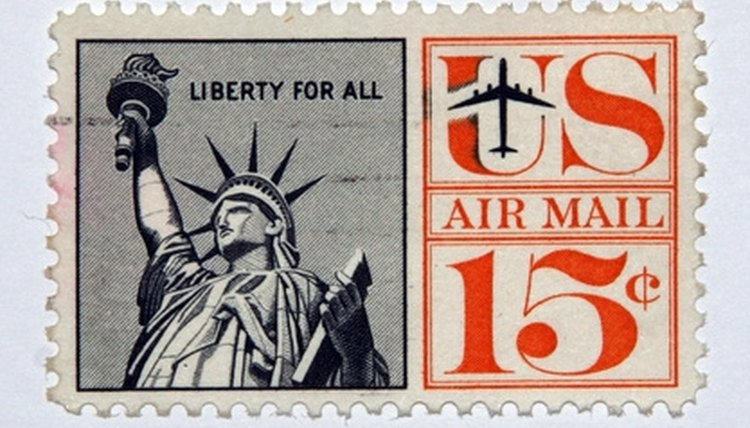 National symbols, the Statue, Liberty, postage stamps