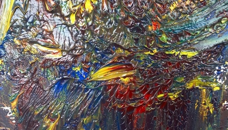 Layers, oil paint, a thick impasto