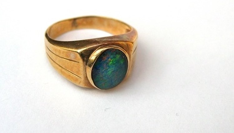 Proper care will ensure a beautiful man-made opal ring.