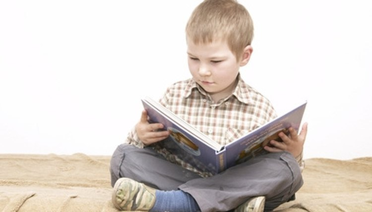 Hearing stories (and following along) helps a preliterate child learn to read.