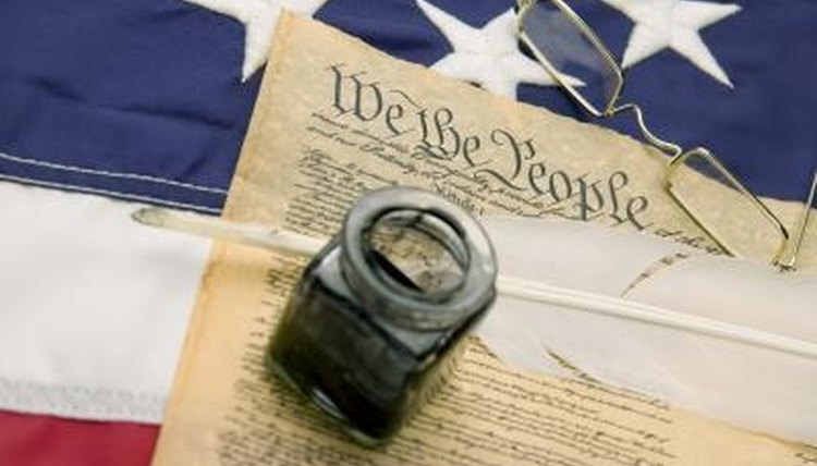 The U.S. Constitution, many provisions