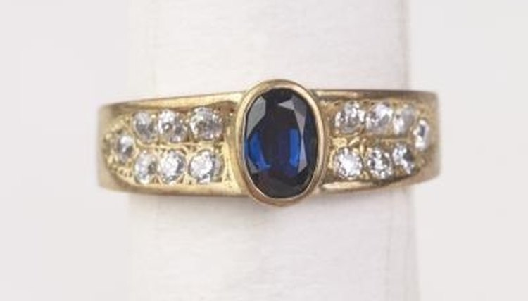 Blue sapphires, the center stone, jewelry