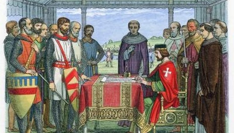 The Magna Carta was written in reaction to the abuses King John commited during his reign in feudal England.