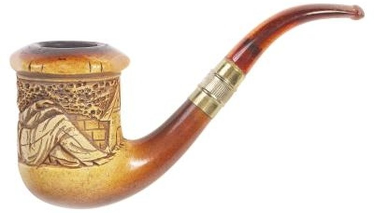 Meerschaum pipes, color, they