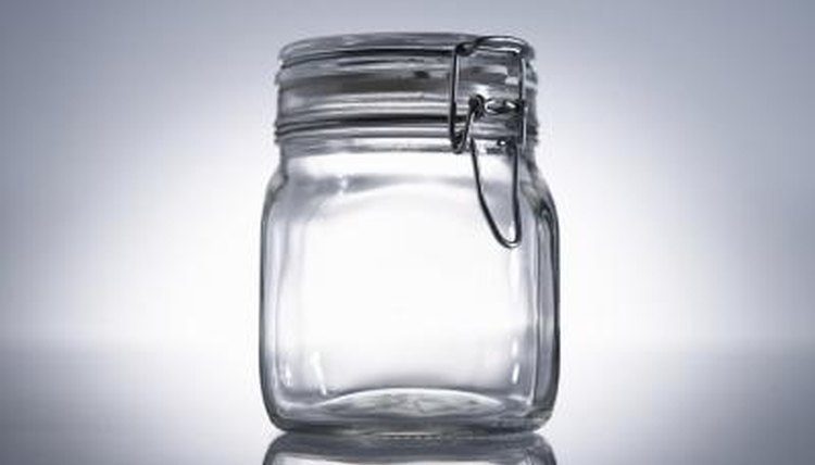 your embossed glass jar